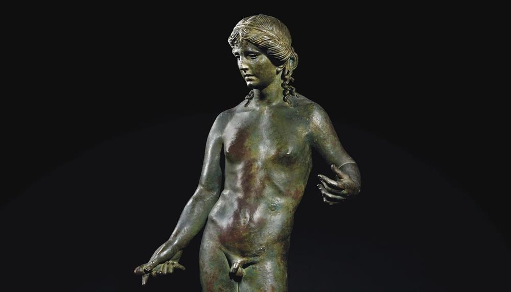 Apollo citaredo, bronzo