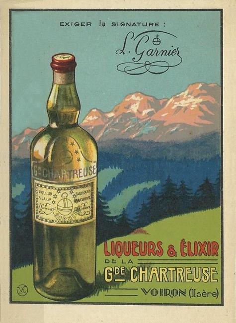 Antica pubblicità del liquore Chartreuse