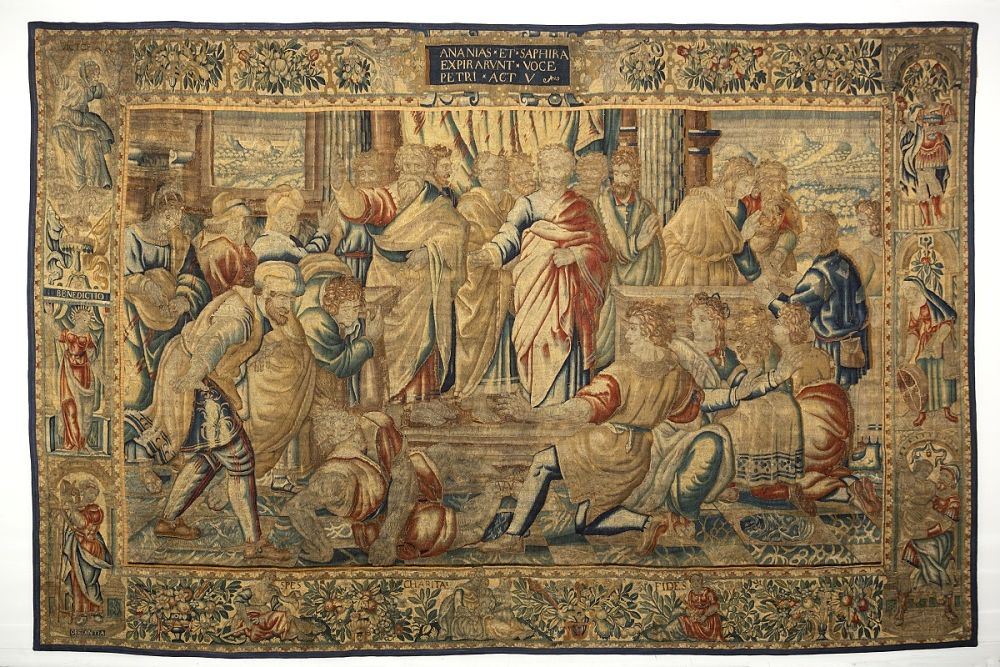 Enrico Mattens, Ananias et Saphira, da cartoni o copie di Raffaello Sanzio, 1620-24, Bruxelles