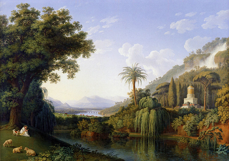 Jakob Philipp Hackert, Giardino Inglese della Reggia di Caserta, olio su tela, XVIII sec.