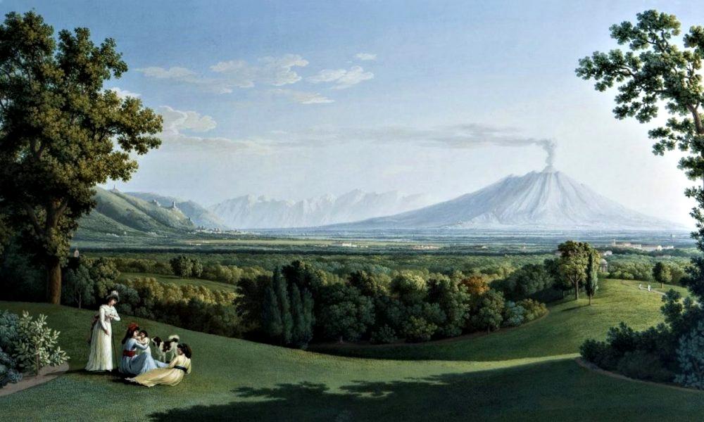 Jakob Philipp Hackert, Il Giardino Inglese della Reggia di Caserta, olio su tela, XVIII sec.