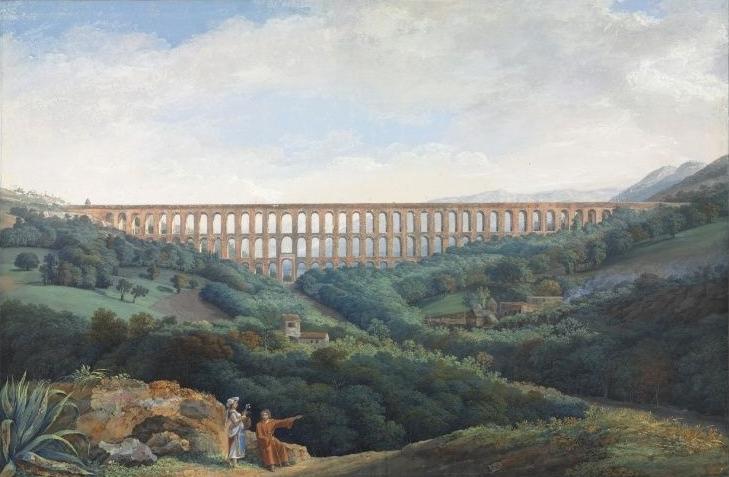 Jakob Philipp Hackert - Acquedotto Carolino, olio su tela, XVIII sec. - Cleveland Museum of Art