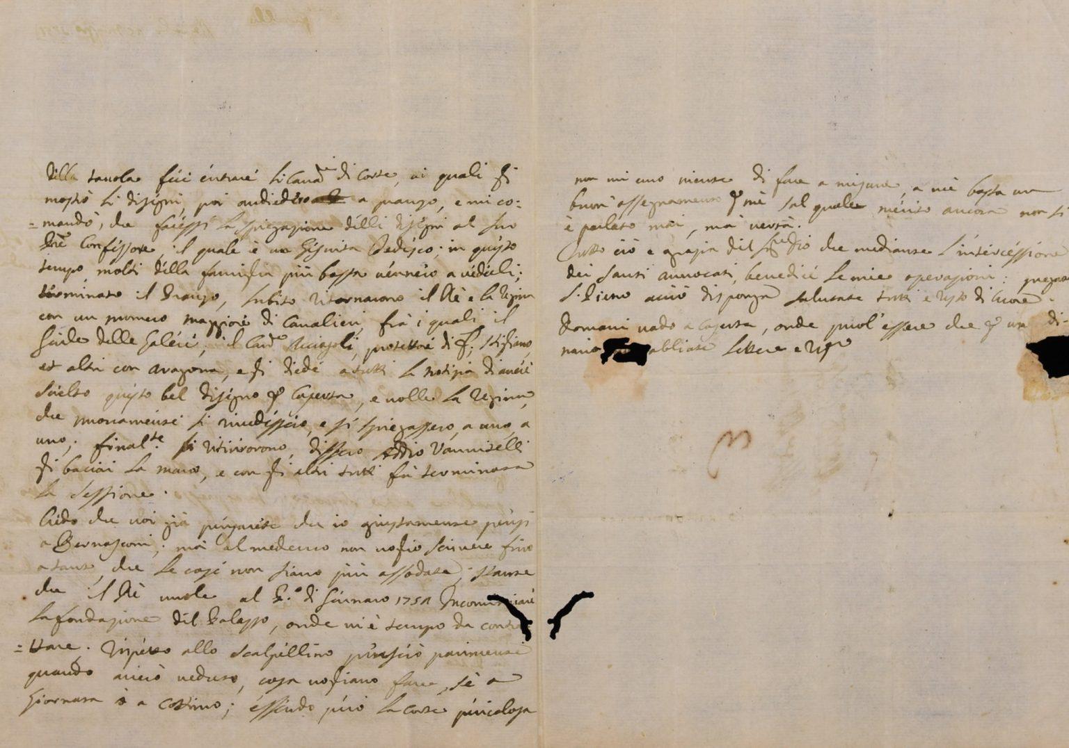 Lettera di Luigi Vanvitelli