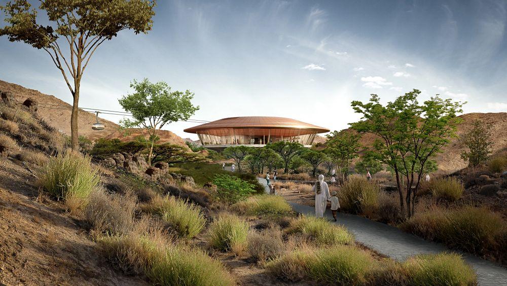 Rendering dell'Oman Botanic Garden