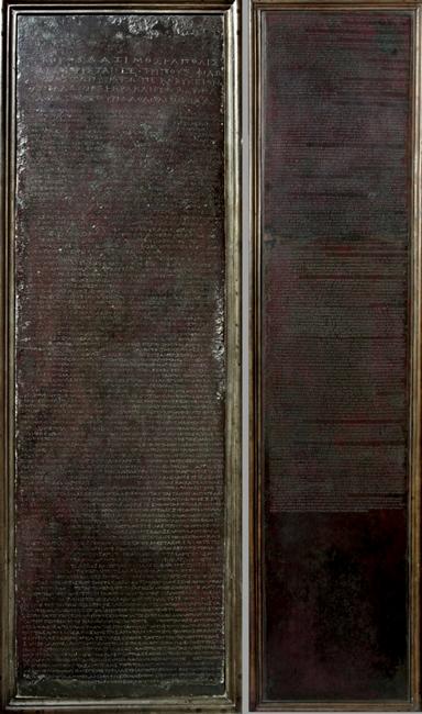 Tavole di Heraclea, bronzo, IV sec. a.C. - Museo Archeologico Nazionale, Napoli