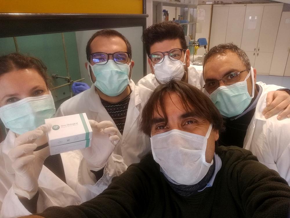 Il team di esperti che hanno lavorato alla produzione degli anticorpi sintetici