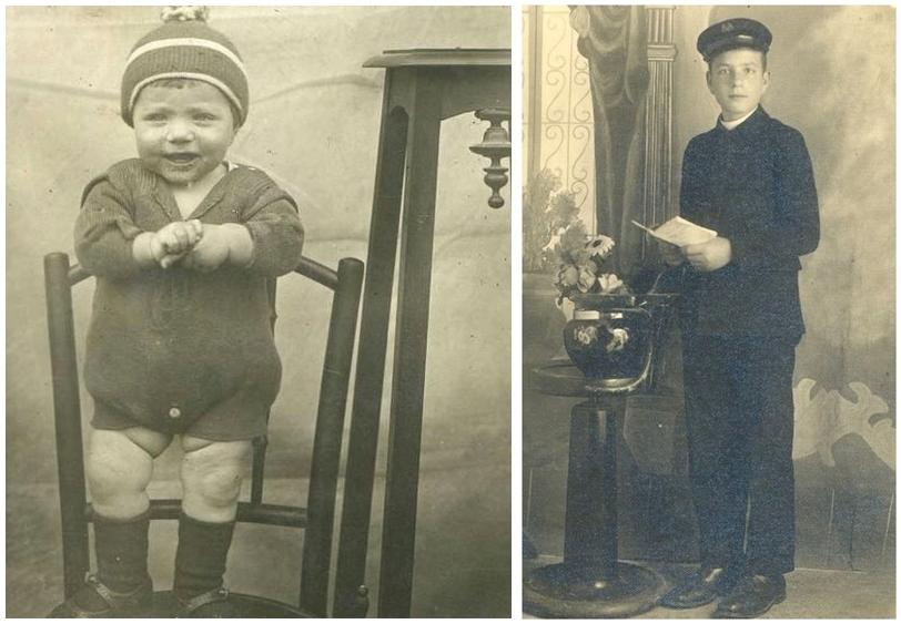 Giuseppe Tusiani da bambino e da adolescente