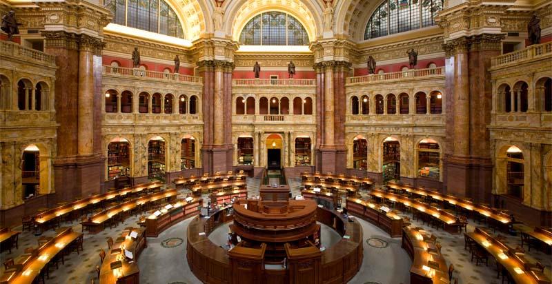 La Biblioteca del Congresso, a Washington, dov'è custodita la registrazione di Tusiani che legge le sue poesie nel 1963