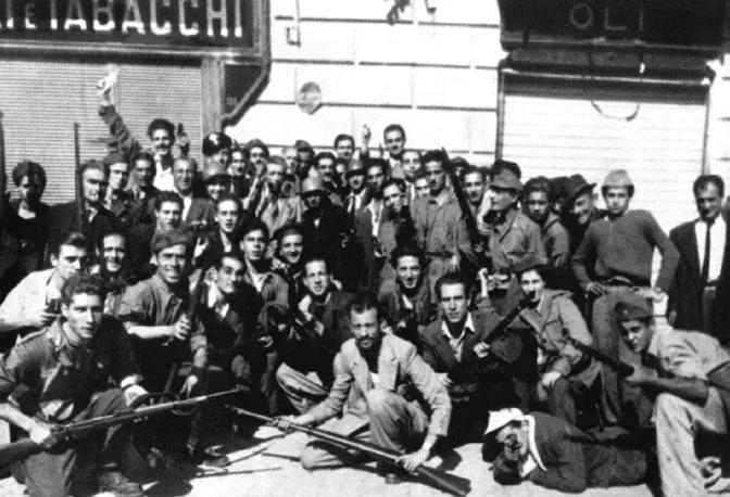 Gruppo di partigiani napoletani