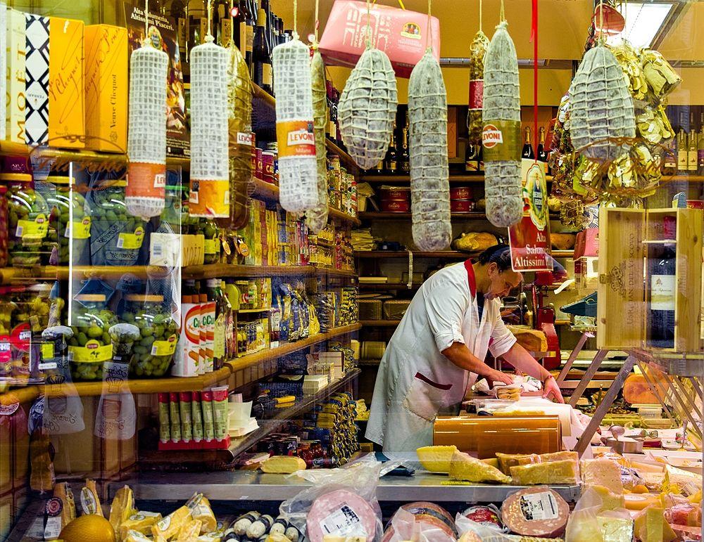Una tipica salumeria italiana