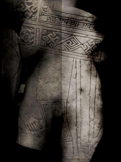 Bianca Delapierre, tempo arcaico, stampa fine art inkjet a pigmento con stampante epsonsupercolor ed inchiostri hd in bianco e nero esteso, 2019