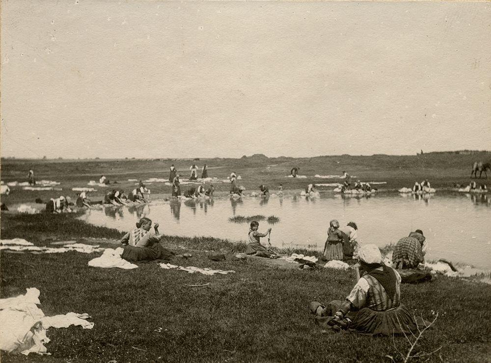 Laval Nugent, Lavandaie lungo il fiume, Lucania, XIX-XX secolo - Coll. Diciocia