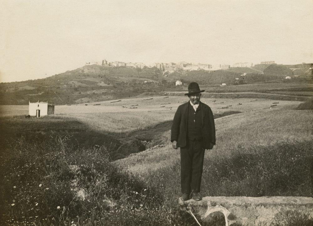 Laval Nugent, Paesaggio campestre con uomo, XIX-XX secolo - Coll. Diciocia ©