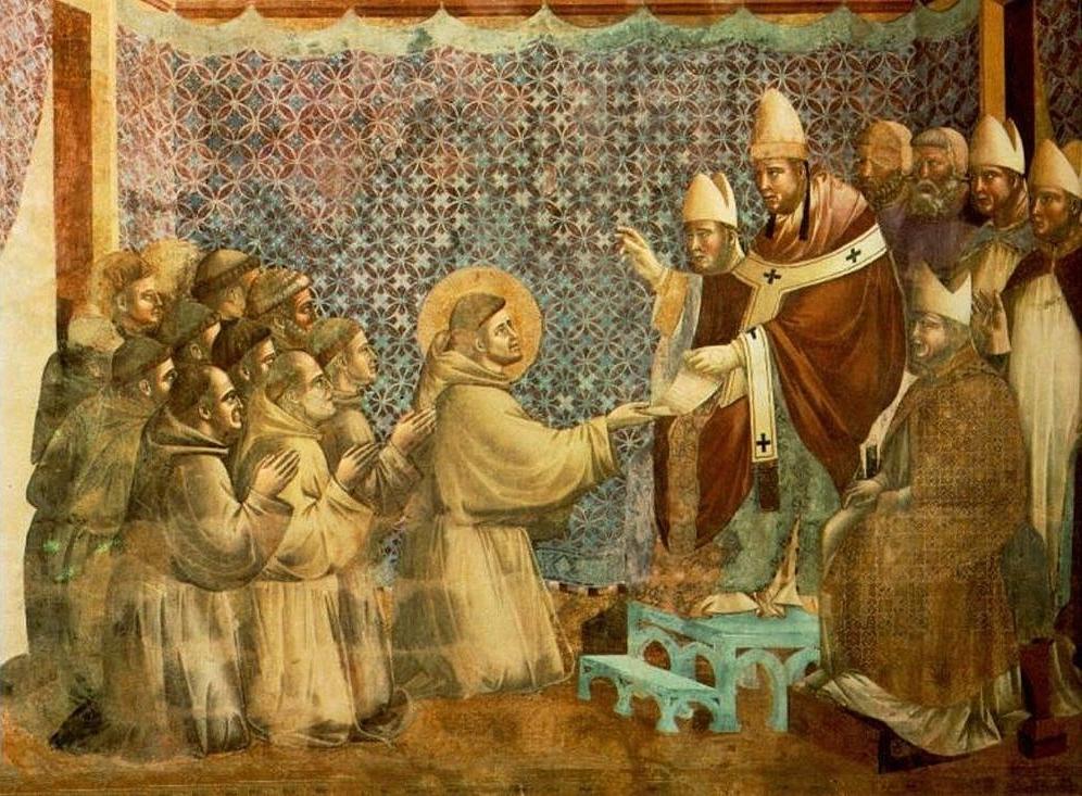 Giotto, La conferma della Regola, affresco (part.), XIII secolo, Basilica di S. Francesco, Assisi
