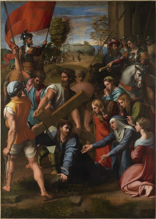Raffaello Sanzio, L'Andata al Cavario (Spasimo di Sicilia), 1517, Museo del Prado, Madrid