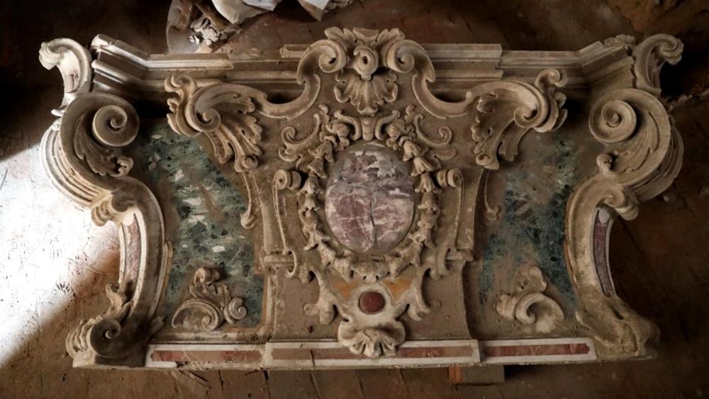 Antonello Gagini, part. della cornice-altare, XVI secolo, Chiesa di S. Maria dello Spasimo, Palermo