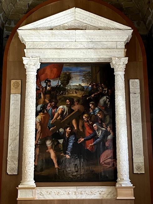 Raffaello Sanzio, L'Andata al Cavario (Spasimo di Sicilia), nella riproduzione di Factum Foundation