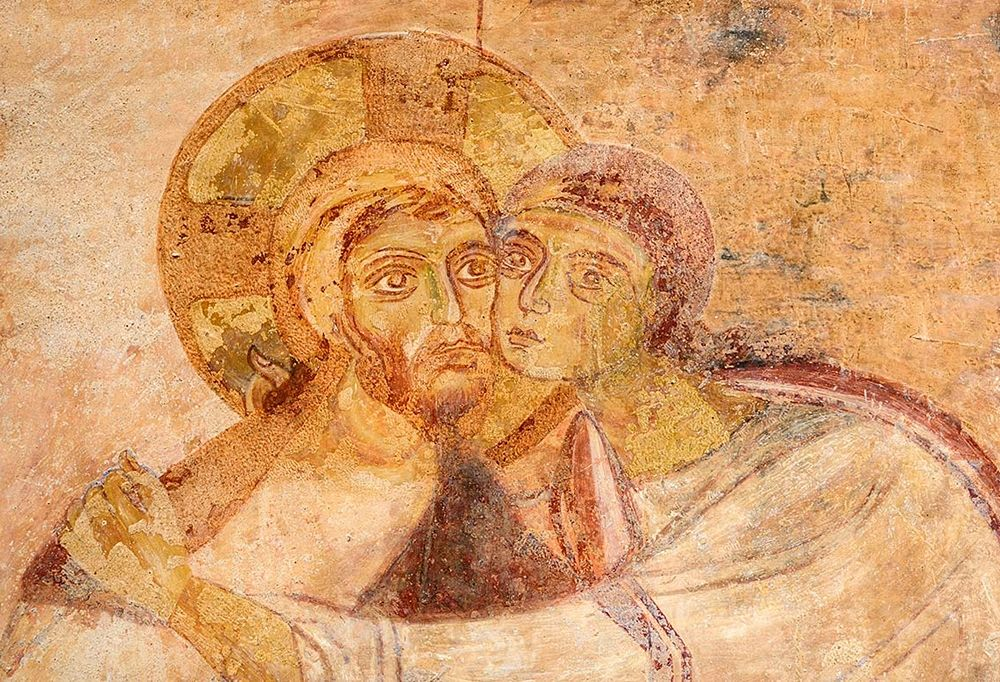 Il Bacio di Giuda (part.), affresco - Ph. © Archeocasarano