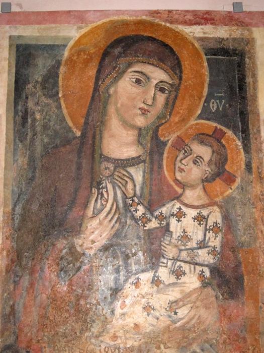 Madonna di Casaranello, affresco, tardo XIV° secolo - Ph. © Alessandro Romano