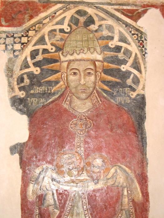 Papa Urbano V, affresco, tardo XIV secolo - Ph. © Alessandro Romano