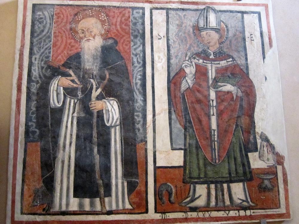 Sant'Eligio e Sant'Antonio Abate, affresco, XVI° secolo - Ph. © Alessandro Romano