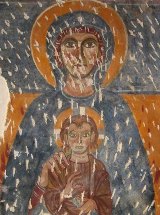 Part. della Vergine con Bambino, affresco, X-XI sec. - Ph. © Alessandro Romano