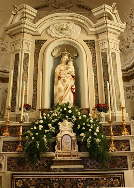 Antonello Gagini, Madonna delle Grazie, marmo di Carrara, 1542, Santuario dell'Ecce Homo, Mesoraca