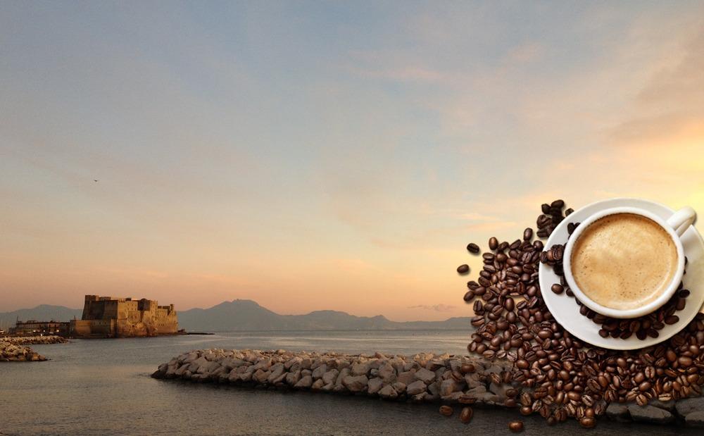 Veduta di Napoli con Castel dell'Ovo