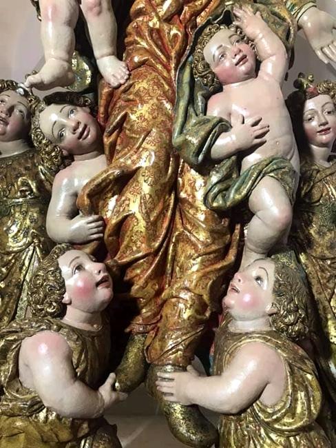 Fra' Diego da Careri, part. con gli angeli che sollevano la Vergine (opera restaurata)