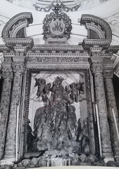 Fra' Diego da Careri, il gruppo statuario della Vergine in una foto degli anni '50