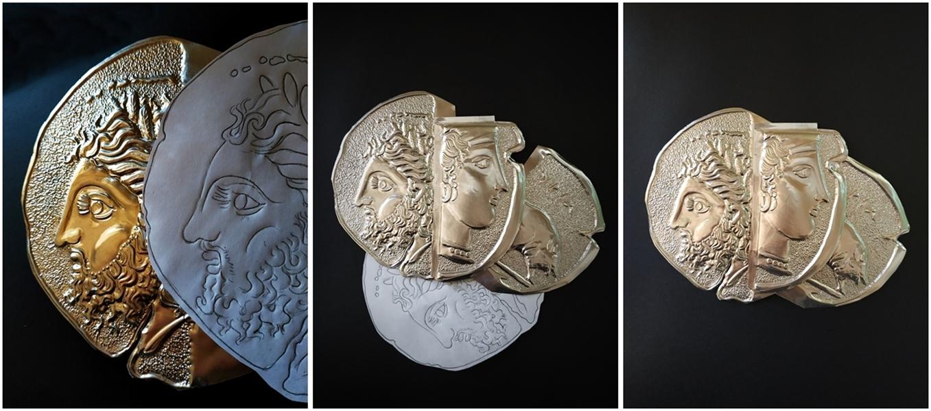 I tre Frammenti di Angelo Vantimiglia a lavorazione terminata