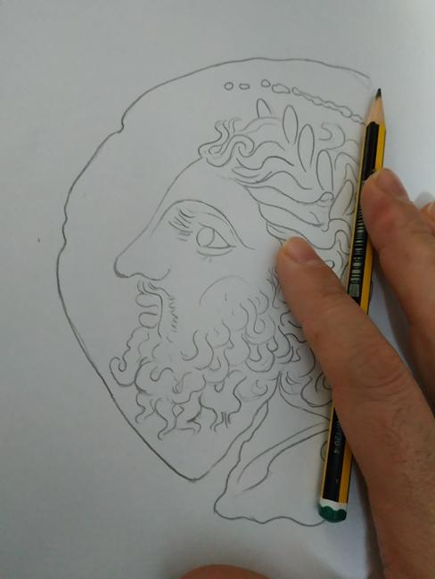Angelo Ventimiglia, la fase del disegno
