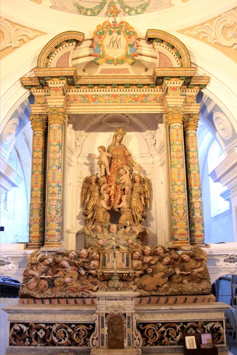 Fra' Diego da Careri, Madonna degli Angeli musicanti, nella sua collocazione originaria prima del restauro
