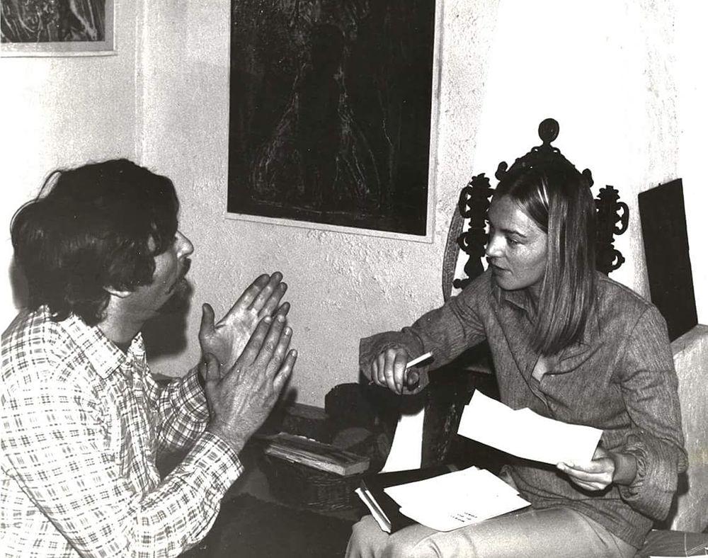 Nik Spatari e Hiske Maas al tempo della loro galleria milanese - Image by MuSaBa