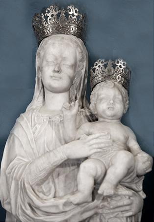 Rinaldo Bonanno, Madonna con Bambino, 1584, Cattedrale dell'Isodia, Bova (RC)
