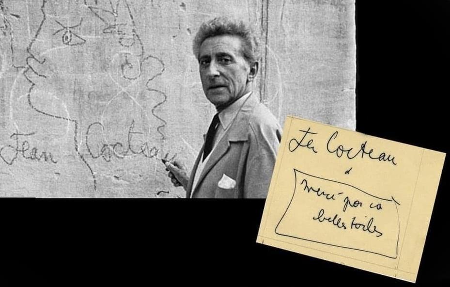 """Jean Cocteau, """"Merci pour ca belle toile"""" - Image by MuSaBa"""