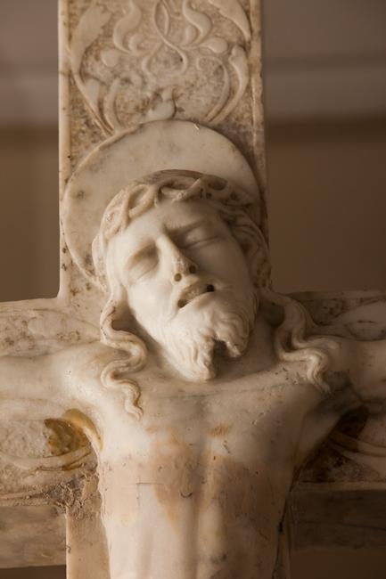 Crocifisso (part.), bottega di Giandomenico Mazzolo, seconda metà XVI sec.