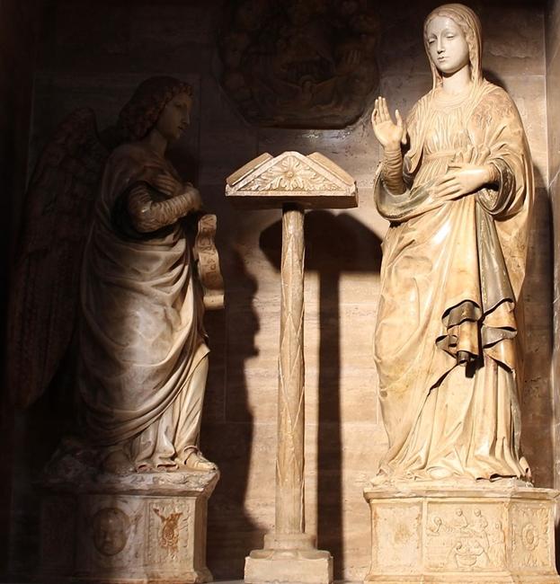 Antonello Gagini, Gruppo dell'Annunciazione, Chiesa di S. Teodoro Martire, Bagaladi (RC)