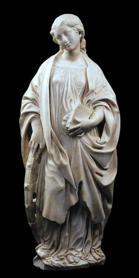 Benedetto da Maiano, S. Caterina d'Alessandria, 1492 ca. | Chiesa di S. M. Assunta e Sant'Elia, Terranova Sappo Minulio (RC)