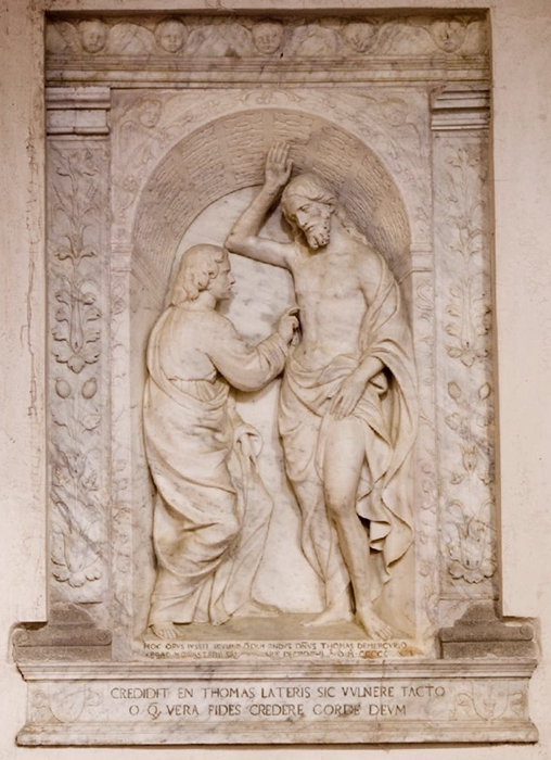 Antonello Gagini, Incredulità di S. Tommaso, 1531, Chiesa di S. M. Assunta, Gerace (RC)