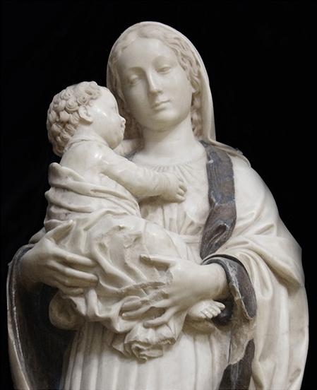Antonello Gagini (attr.), Madonna del Pilerio (part.), 1508, Chiesa di S. Maria delle Grazie, Sinopoli (RC)