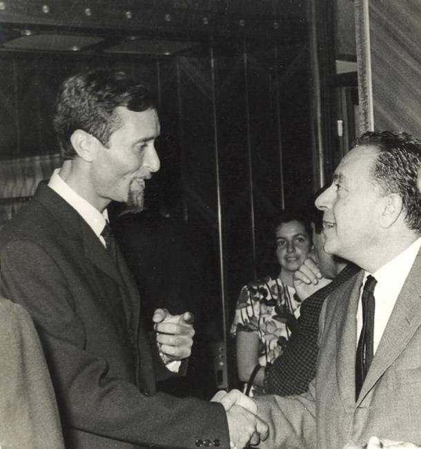 Nik Spatari e Renato Guttuso durante una mostra a Palermo nel 1963 - Image by MuSaBa