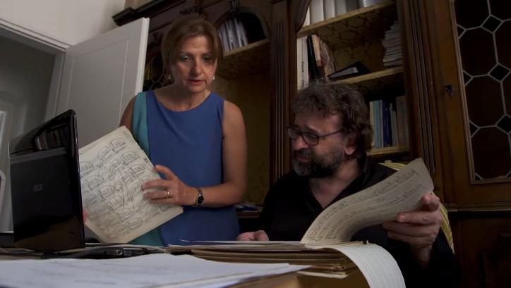 Francesco Lotoro e sua moglie Grazia Tiritiello - Image courtesy CBS
