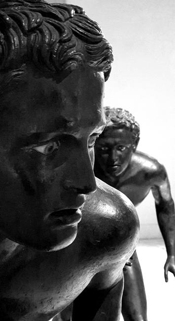 Corridori di Ercolano, bronzo, I sec. a.C, Museo Archeologico Nazionale, Napoli - Ph. Mariano Rizzo