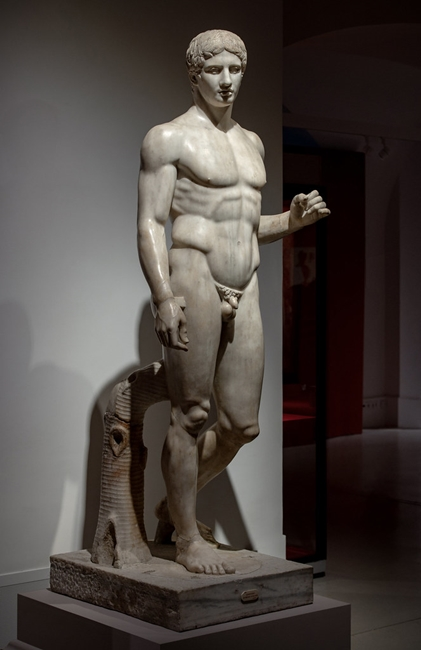 Doriforo di Pompei, marmo, Napoli, Museo Archeologico Nazionale