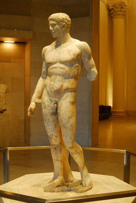 Doriforo di Stabiae, marmo pentelico, fine II-metà I sec. a.C. - Image source | ccby-sa2.0
