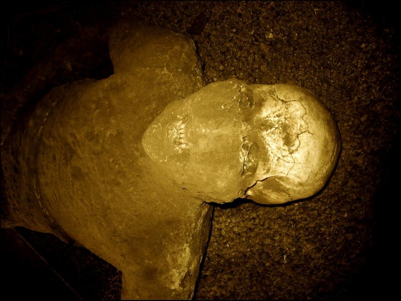 Calco in gesso con scheletro di vittima dell'eruzione vesuviana del 79 d. C., Pompei - Ph. Guillén Pérez