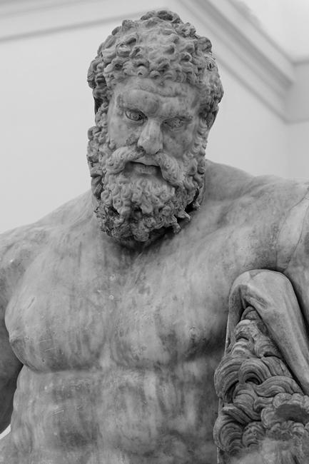 Ercole Farnese, marmo, III sec. d.C., Napoli, Museo Archeologico Nazionale