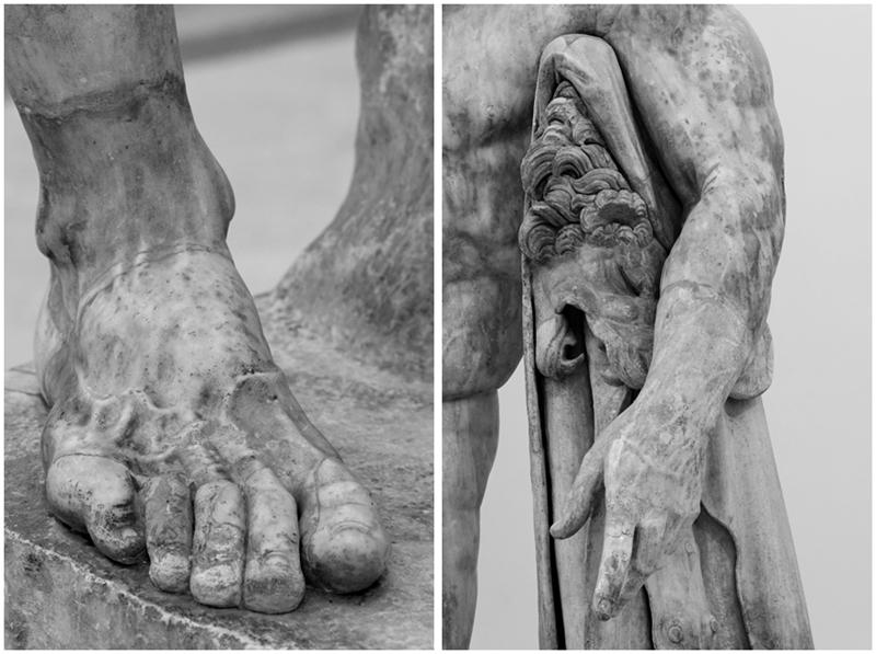 Ercole Farnese (part.), marmo, III sec. d.C., Napoli, Museo Archeologico Nazionale