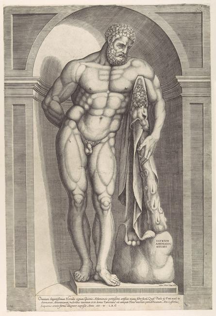 Antonio Lafreri, Ercole Farnese, incisione, 1562, da Speculum Romanae Magnificentiae, Metropolitan Museum, NY